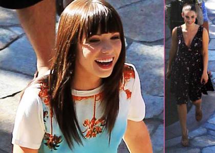 Carly Rae Jepsen Shooting 90210