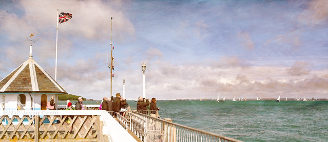 Sitting on the dock of the bay #2 (The painterly panorama edit)