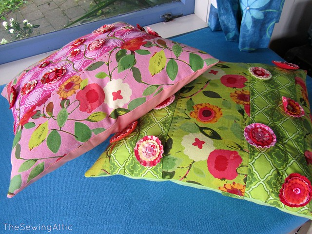 Summers flowers cushion covers