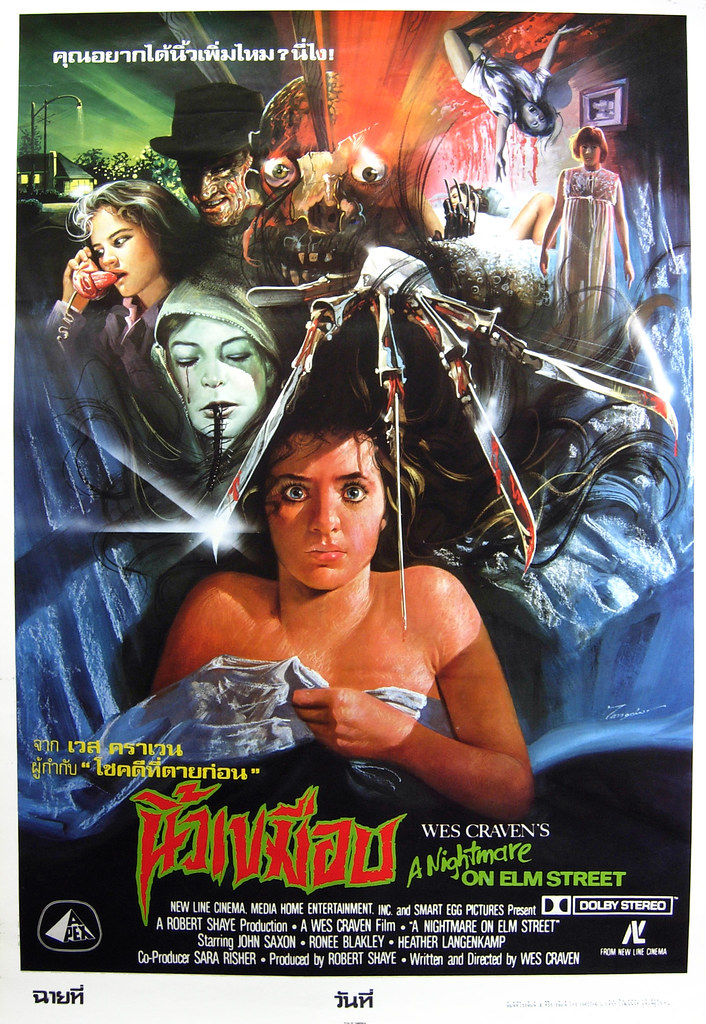 A Nightmare on Elm Street, 1984 (Thai Film Poster)