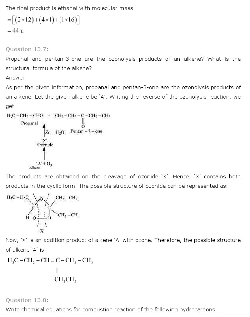 Hydrocarbons Questions And Answers Pdf