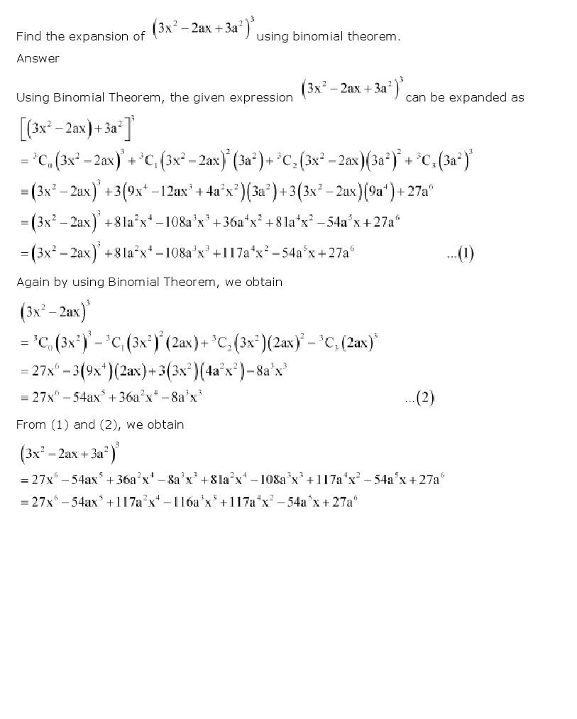 worksheet Binomial Theorem Worksheet Pdf ncert solutions for class 11 maths chapter 8 binomial theorem previous next