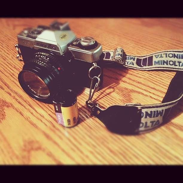 This morning I spent time with my film camera.  It felt good to have it in my hands.