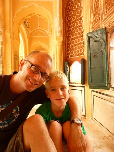 Me and my son in the Wind Palace Hawa Mahal