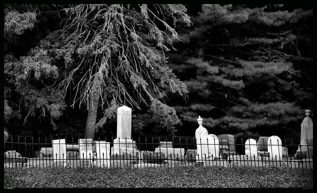 Farmer's Cemetery Black and White | Flickr - Photo Sharing!