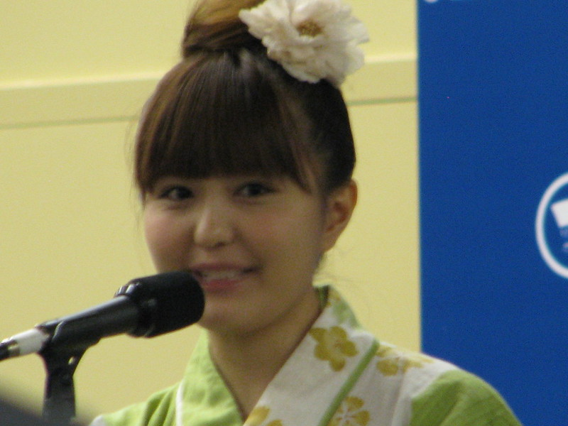 Ai Nonaka smiles at an audience question during her Q&A