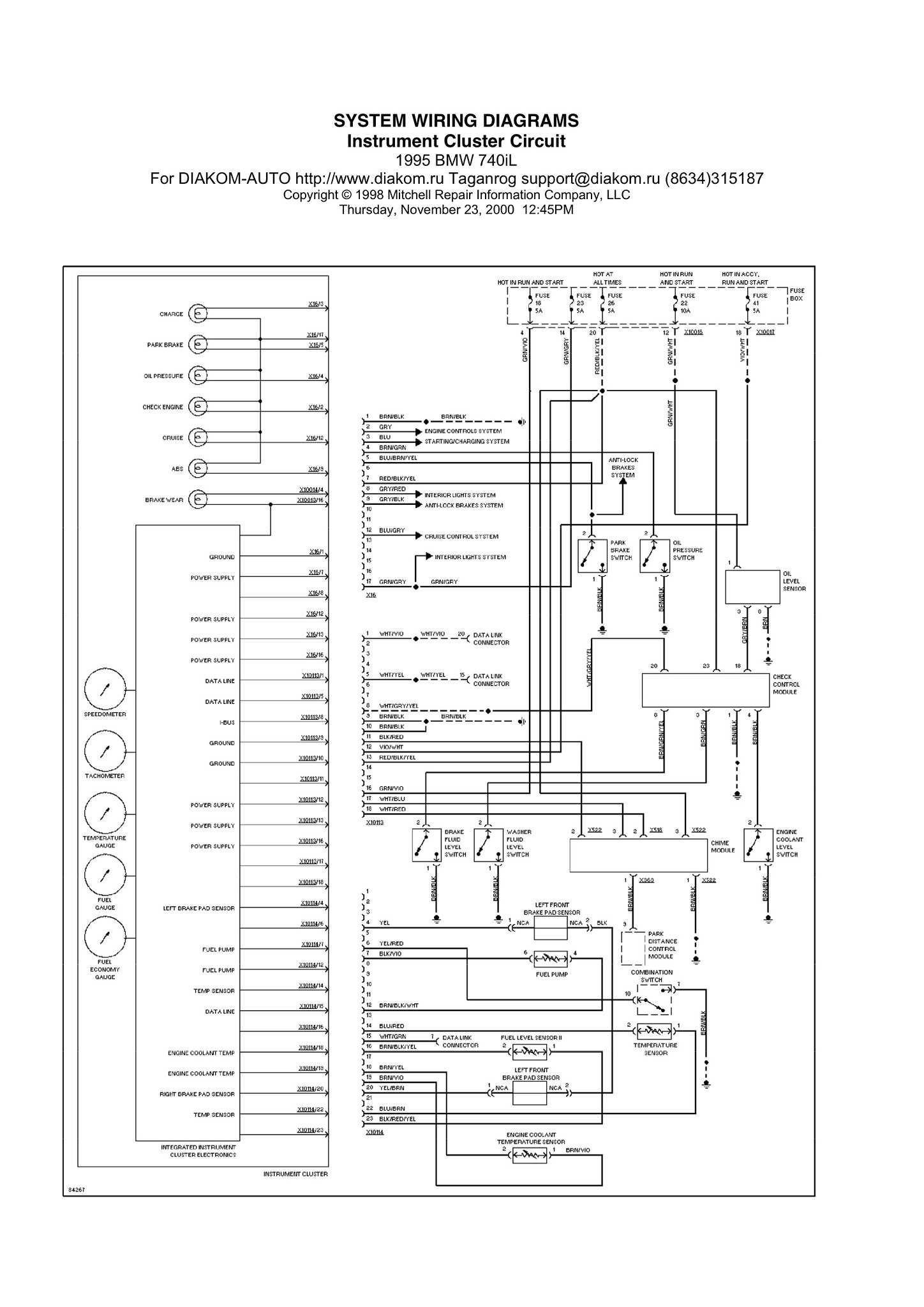 Bmw E39 Wiring Diagram Free For You 1979 Corvette Harness Download Schematic Instrument Cluster E46 45 Webasto Key To Circuits