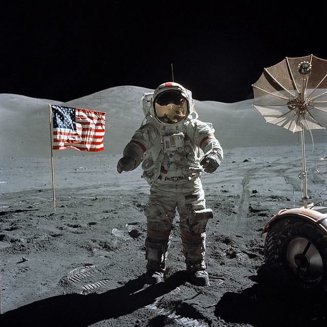 American Flag on the Moon | NASA recently provided images ...