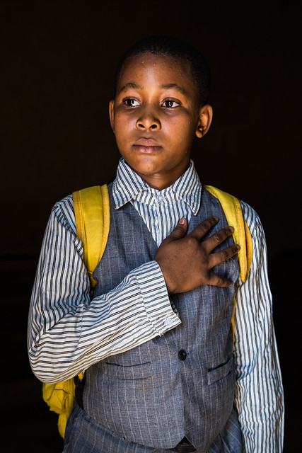 David, President, Mali.<br /> <br /> &quot;I want to be the President of Mali because it is a good job and also there is a lot of money in it. I would work well for my country.&quot;<br /> <br /> Photo by Vincent Tremeau, 2015