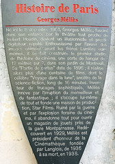 Photo of Georges Méliès brown plaque