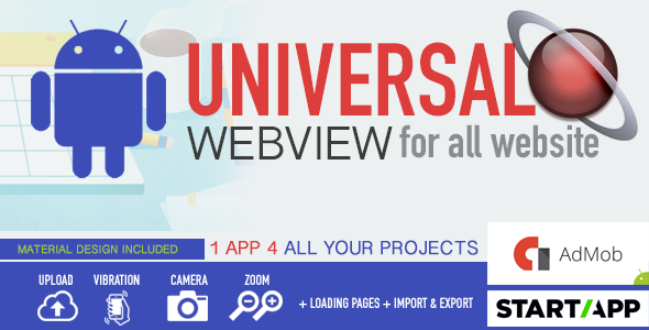 Android WebView App – Universal for all website