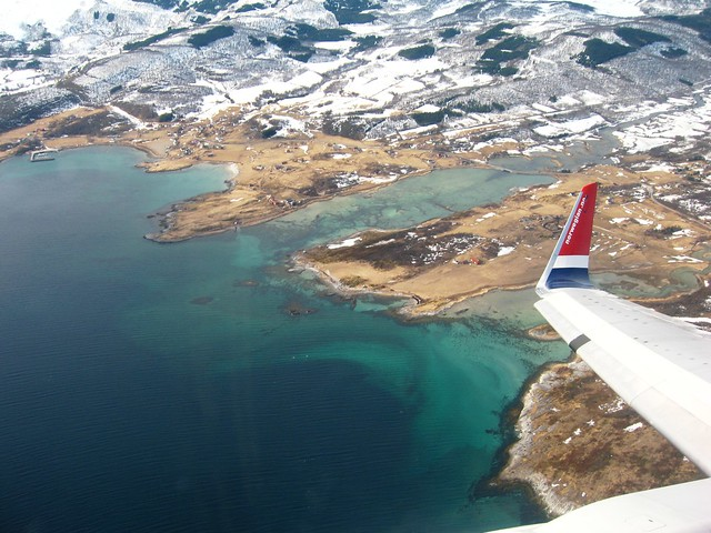 Arctic Circle from above, Northern Norway
