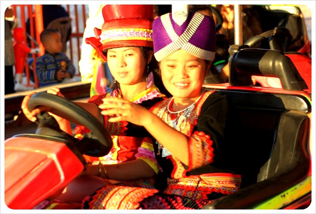 phonsavan hmong girl bumper car