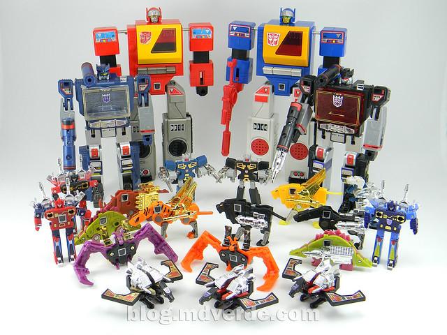 Transformers Nightstalker - G1 Encore - modo robot vs casetes y grabadoras