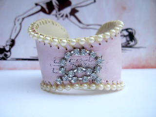 Custom Shabby Pink B-Cuff: Holly!