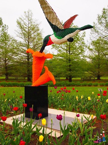 Hummingbird and Flower Lego Sculpture, Reiman Gardens, Ames, iowa