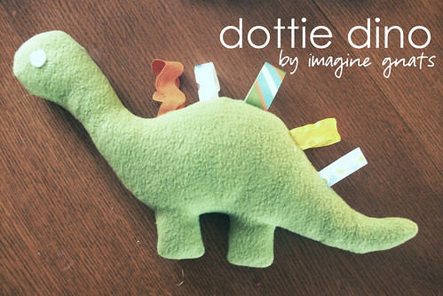 dottie dino tutorial and pattern