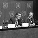 Campaign coordinator Jeroen Van Hove speaks at the Press Conference to launch the child detention campaign at the UN