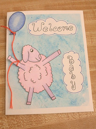 sheep baby card