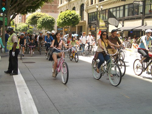 CicLAvia throng on Spring Street