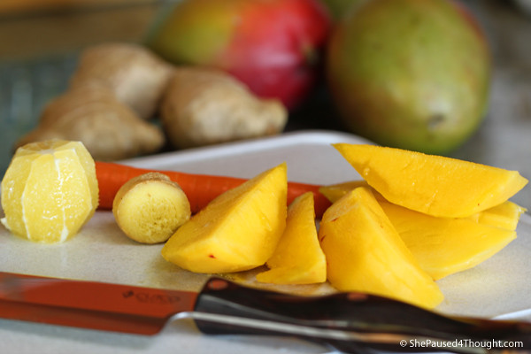Mango ingredients for Spicy Mango Juice