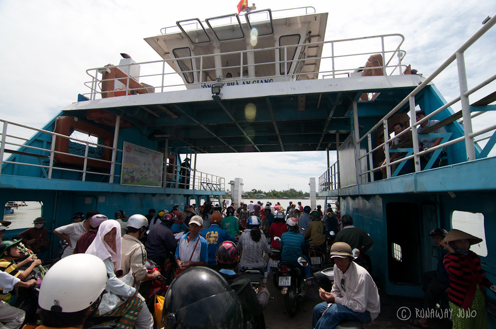 Ferry to Chau Giang from Chau Doc