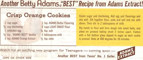 Crisp Orange Cookies