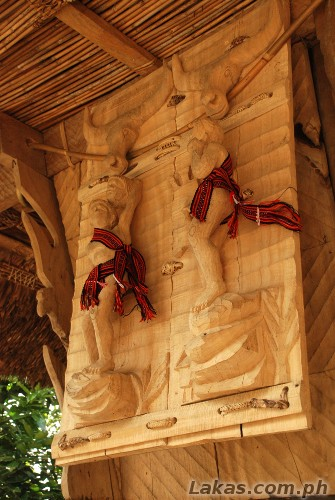 Door to the native house in Sitio Awa, Abatan, Hungduan, Ifugao
