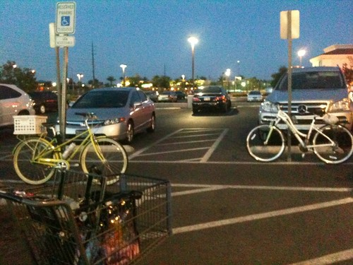 Bicycle friend at the grocery store