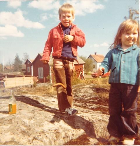 Jerk och jag i Öregrund 12 maj 1973