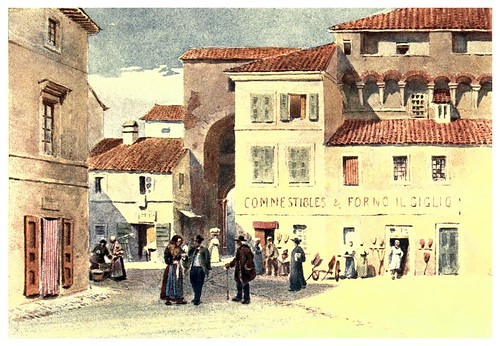 013-Pietrasanta-Sketches on the old road through France to Florence-1905- Alexander Henry Hallam Murray