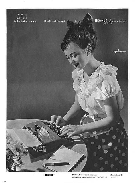 DU 1948-09 Hermes Baby typewriter ad