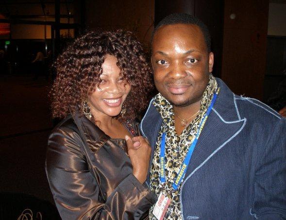 Dj Abass With Dudu Mkhize Nandi Shaka S Mother From The Movie Shaka Zulu Paff Los Angeles