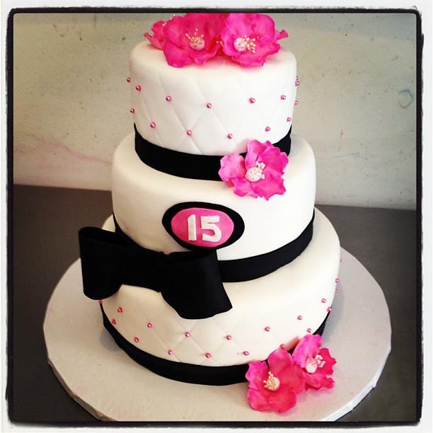 Sweet 15th Birthday Cake