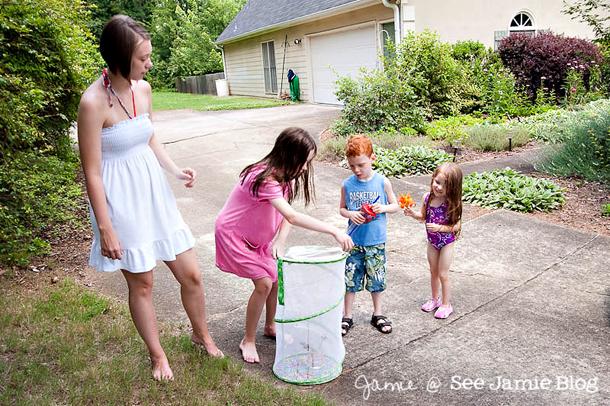 releasing butterflies with friends