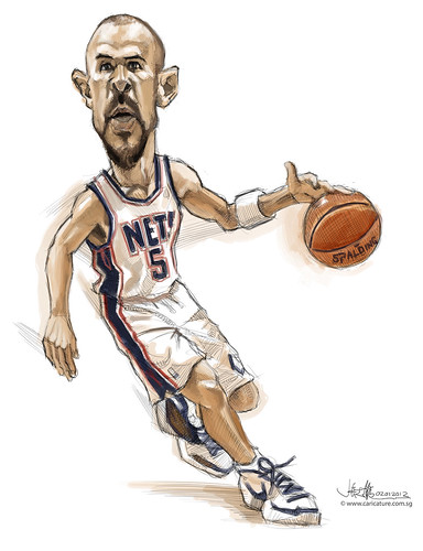digital caricature of Jason Kidd - 1