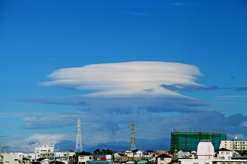 台風が通り過ぎた後の富士山