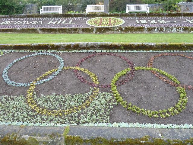 Olympic Logo, Cragside Gardens