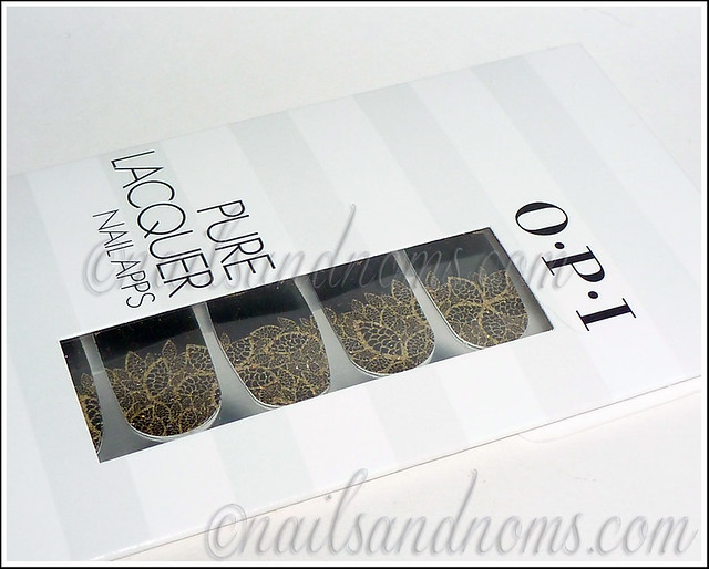 OPI Pure Lacquer Nail Apps - Gold Lace 2