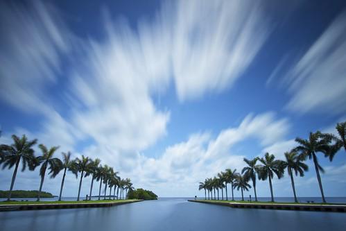 longexposure seascape clouds landscape vanishingpoint movement florida miami atlantic palmtrees atlanticocean deeringestate ernogy