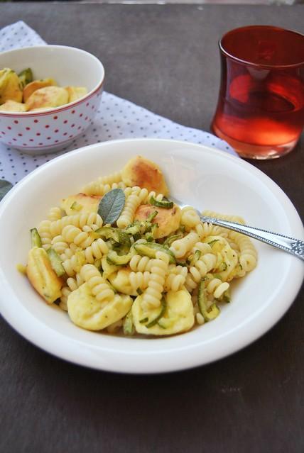 Pasta with Zucchini and Ricotta Polpette