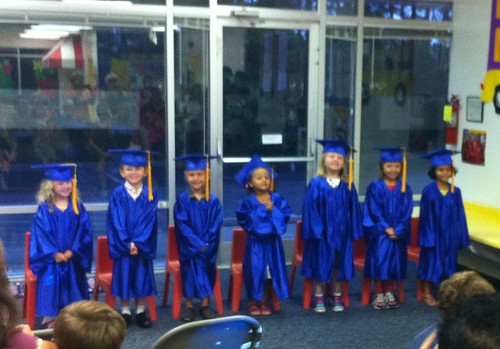 Catie and her pre-K graduating class (she's 3rd from the right)