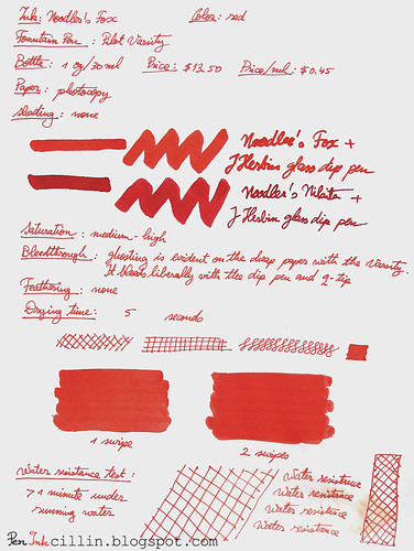 Noodler's Fox Red on photocopy