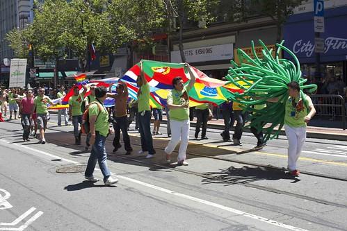 BahÌa flag and balloons