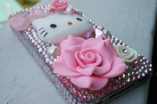 Crystal Hello Kitty iPhone case