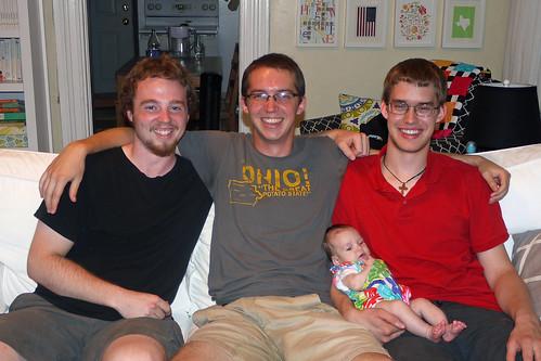 Jonathan, Pete and Adam