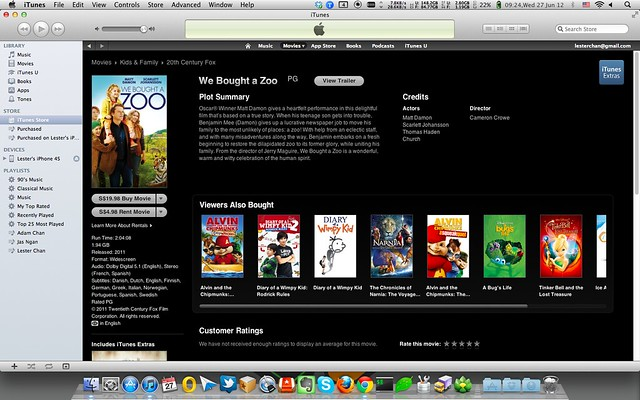 Apple iTunes Store - Singapore (Movies)