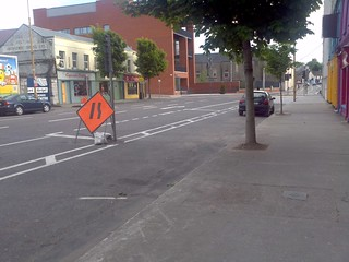 Crap cycle lane, Anglesea Street, Cork