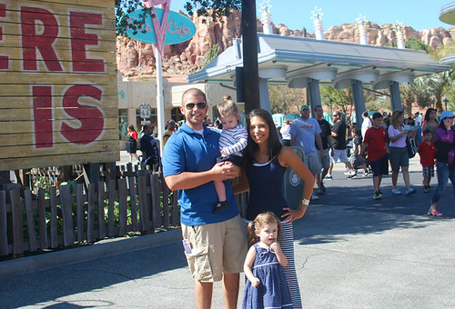 Cars Land Family Photo