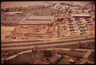 Site Of New Aeration Tanks And Existing Tanks At The Blue Plains Sewage Treatment Plant On The Anacostia River, April 1973